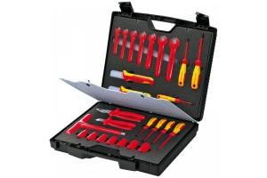 Чемодан Knipex 98 99 12, с диэлектрическим инструментом VDE 1000V, 26 предметов, KN-989912