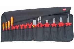 Планшет Knipex 98 99 13, с диэлектрическим инструментом VDE 1000V, 15 предметов, KN-989913